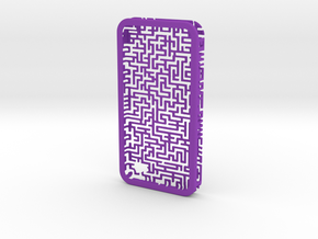 IPhone 4/4S - Maze Case in Purple Strong & Flexible Polished