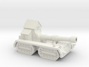 15mm Greenskin BFKannon Wagon (x1) in White Natural Versatile Plastic