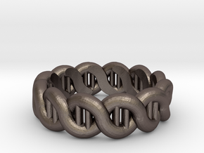 DNA sz16 in Polished Bronzed Silver Steel