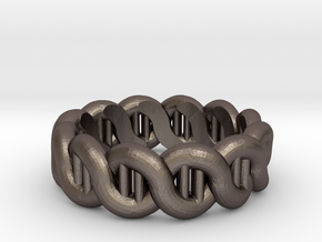 DNA sz15 in Polished Bronzed Silver Steel