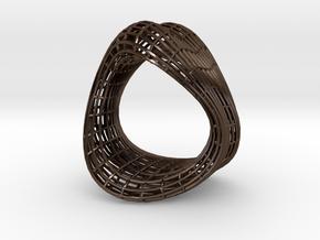 Net bracelet in Polished Bronze Steel