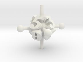 Jack d8 in White Natural Versatile Plastic