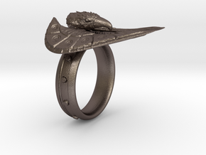Eagle Ring max in Polished Bronzed Silver Steel