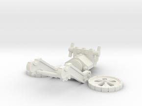 Steampunk Mortar MK5 in White Strong & Flexible