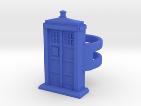Police Box Ring in Blue Processed Versatile Plastic