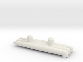 MirrorHTRD ARM BLASTERS in White Natural Versatile Plastic