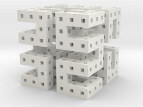 Hilbert Cube in White Natural Versatile Plastic