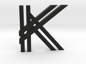 KK Logo in Black Natural Versatile Plastic