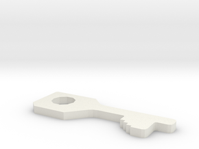 chubb high security handcuff key in White Natural Versatile Plastic