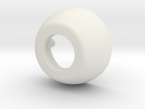 Bell Housing in White Natural Versatile Plastic