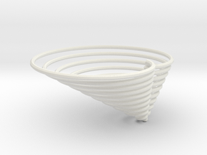 cardioid3d in White Natural Versatile Plastic