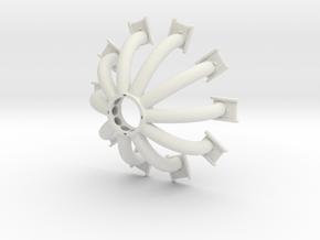 Arc reactor v2 - Bottom part coils v2 in White Natural Versatile Plastic