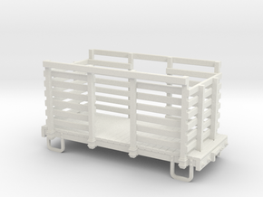 On30 14ft 4w Pulp wood car in White Strong & Flexible