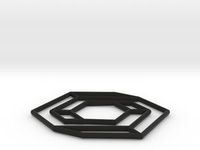 Impossible hexbar, v2 in Black Strong & Flexible