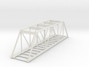 Straight Bridge - Z scale in White Natural Versatile Plastic