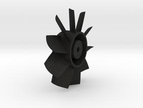 15mm Duct Fan 10 blade in Black Acrylic