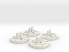 120 to 616 Film Spool Adapters, Set of 4 in White Natural Versatile Plastic