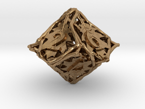 Botanical Die10 (Oak) in Natural Brass