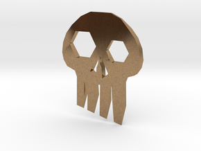 ''Skull'' Keychain / Pendant Multitool in Natural Brass