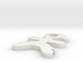 I3D LLAVERO WOMAN in White Natural Versatile Plastic