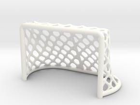 Hockey Net - 28mm scale in White Processed Versatile Plastic