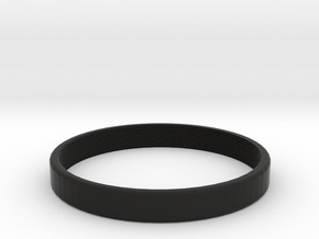 female coupler M58x0.75 x 8mm long in Black Natural Versatile Plastic