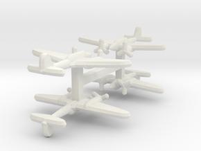 Ki-45 Nick 1:900 x4 in White Natural Versatile Plastic
