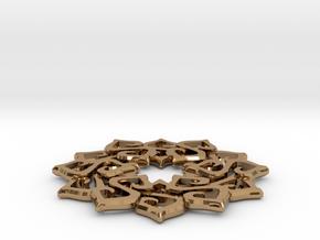 Nimyade Star Pendant in Polished Brass