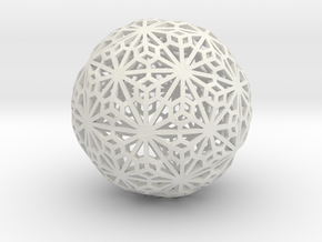 Flexible Sphere_d1 in White Natural Versatile Plastic