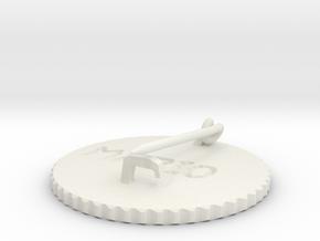 by kelecrea, engraved: MARIO in White Natural Versatile Plastic