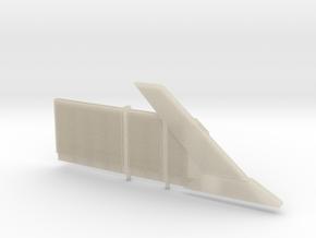 Beton Schallschutzwand mit Anfangselement rechts in White Acrylic