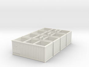 Container4x in White Natural Versatile Plastic