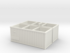 Container2x in White Natural Versatile Plastic