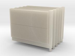 Beton-Schallschutzwand mit Pfeiler 5x einzelne in White Acrylic