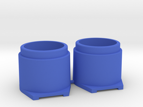 Pinball Button Housing (Cut-Off) #B-21018 (2 qty) in Blue Processed Versatile Plastic