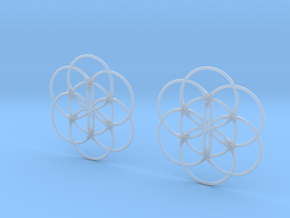 Flower of Life Charm in Smooth Fine Detail Plastic