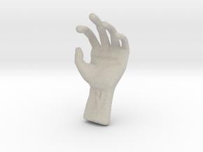Hand in Natural Sandstone