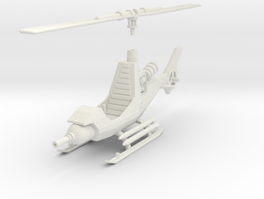 TA08 Attack Gyrocopter (28mm) in White Natural Versatile Plastic