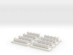 6mm Barbed Wire Obstacles (x8) in White Strong & Flexible