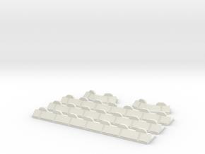 6mm Barricade Walls in White Natural Versatile Plastic