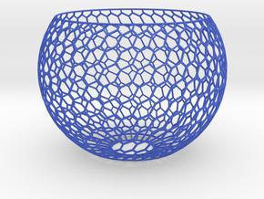 Lamp Shade-6h in Blue Processed Versatile Plastic