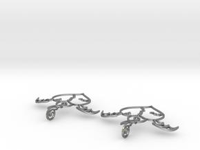 Flying broken heart - Earrings in Natural Silver