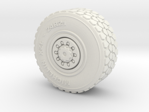 Military wheel for heavy truck in White Natural Versatile Plastic
