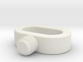 acc stl   STRAP SCREW 1 in White Natural Versatile Plastic