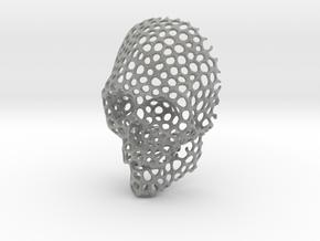 Voronoi Skull Pendant small  in Metallic Plastic