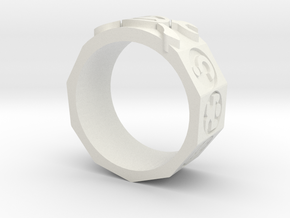 AdventureRing in White Natural Versatile Plastic
