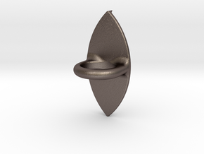 I3D Ring with eye Ø14 in Polished Bronzed Silver Steel