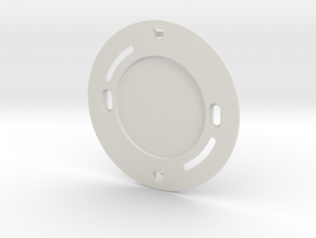 YingYang smoke detector (base) in White Natural Versatile Plastic