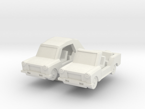 N Scale Trabant Kuebel in White Natural Versatile Plastic