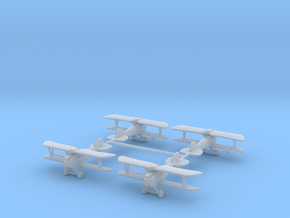 1/288th Albatros D.III set of 4 in Smooth Fine Detail Plastic